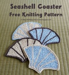 Seashell Coasters - free knitting pattern by Knitting and so on