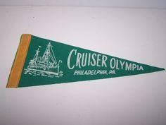 VINTAGE CRUISER OLYMPIA PHILADELPHIA, PA.  FELT/FELT LIKE PENNANT