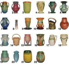 Roseville Pottery Patterns,  F-L