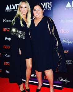 Joanna and La Mania's amazing muse Dorota Wellman at Flesz Fashion Night 2015. #lamania