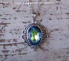 Old European Master Crafted Magical Arts™ Magical Jewelry, Aurora Borealis, Artisan, Pendant Necklace, Gemstones, Glass, Vintage, Beautiful, Northern Lights