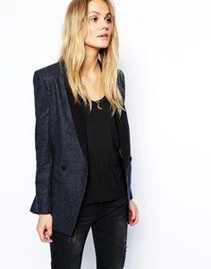 Lil Miss JB Style Finds: Maison Scotch Blazer in Pinstripe Size 3 NEEEEEEEEEEEEEEED (Sold Out in my Size)