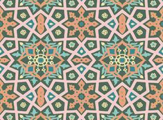 Soft Oriental (Uzbek) Ornament by SUNPATTERN Seamless Repeat Royalty-Free Stock Pattern - Patternbank Oriental Design, Surface Design, Repeat, Printer, Royalty, Arts And Crafts, Quilts, Ornaments, Create
