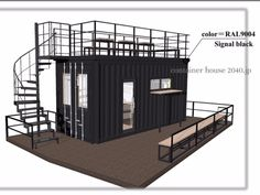 20FTコンテナ一台の可能性を探る | コンテナハウス2040jpブログ Container Coffee Shop, Container Van, Container House Design, Container Buildings, Container Architecture, Kiosk Design, Cafe Design, Casa Magnolia, Container Conversions