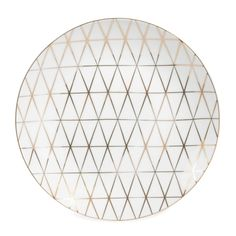 Piatto da dessert bianco in porcellana D 20 cm OPALE   - Venduto x 6