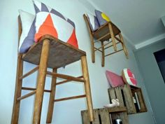 Chair Shelves, Future and Found, Fortress Road, Tufnell Park, Image by Homegirl London