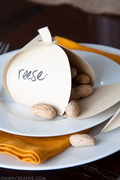 40 Unique Thanksgiving Place Cards That Are Full of Creativity