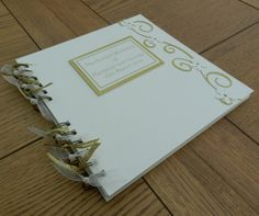 50th Golden Wedding Anniversary 8x8 Guest Book by keepitinaframe, £12.99