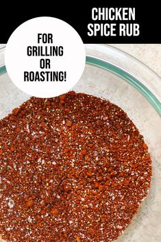 The Best Chicken Spice Rub - great for grilling or roasting!  The chicken seasoning is made with only 6 ingredients that you probably already have in your pantry!  So easy to make and the chicken comes out so flavorful.  Can also be used on beef, pork or seafood! Bbq Chicken Dry Rub, Chicken Spices, Barbecue Chicken, Chicken Seasoning, Roasted Chicken, Baked Chicken, Grilled Fruit, Grilled Beef, Grilled Vegetables
