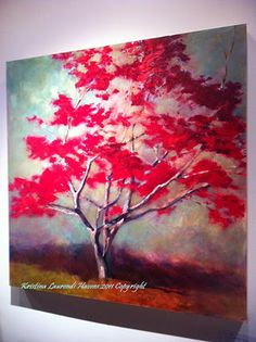 Japanese Maple Tree Painting inspired by a tree near my house