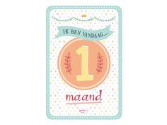 My Happy Moment: Ik ben vandaag 1 maand! Verkrijgbaar als 18-delige set voor € 9,95 http://www.myhappymoments.nl/home/