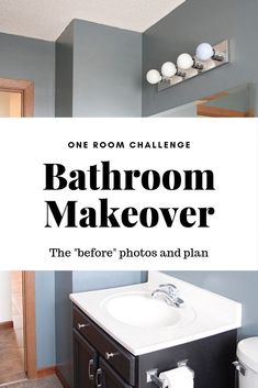 Bathroom Makeover Inspiration - One Room Challenge Week 1