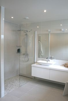 like shower door and shower floor