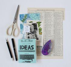Collage & Art Journal Ideas Zine, Vol. 1 Repinned by RainyDayEmbrdry www.etsy.com/shop/RainyDayEmbroidery