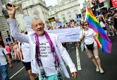 The likes of Denise Welch showed their support as they joined the ITV float to celebrate Pride In London on Saturday alongside a host of other famous faces. Denise Welch, Sir Ian Mckellen, Stonewall Riots, London Pride, Chelsea Fans, Piccadilly Circus, Rainbow Flag, Boris Johnson, Black Pride