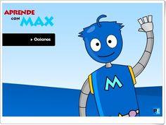 """Aprende con Max: """"Océanos"""" (Portaleducativo.net)"""