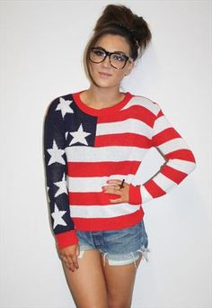 American USA Flag Jumper