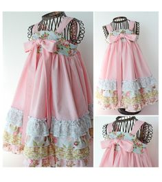 Whimsey Couture Love the rufflles and fabric....pretty in pink - girl. Inspired.