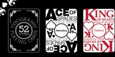 52 Types Deck of Cards. The 52 Types deck of playing cards was created as a quick reference tool for designers.