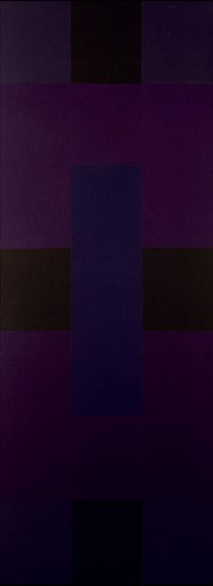 Abstract Painting (A), 1954-59, by American Abstract painter Ad Reinhardt (1913-1967). Oil on canvas, 276 x 102 cm. via Museum Ludwig, Germany