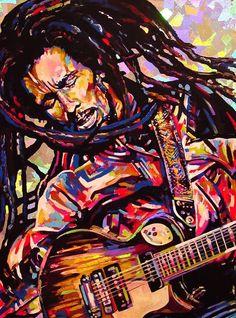 Painting of Bob Marley Bob Marley Kunst, Bob Marley Art, Reggae Art, Reggae Music, Arte Black, Black Art, Art Music, Music Artists, Music Painting