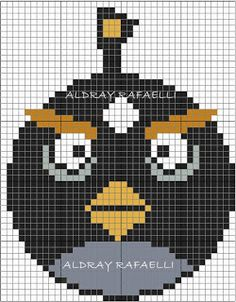 Angry Bird perler bead pattern