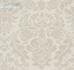 Lyndon Damask is wondrous two tone large scale damask all-over pattern from Thibaut's Neutral Resource collection. This wallpaper will welcome visitors to your home with its stylised pattern of leaves and blooms and is sure to create an inviting atmosphere.