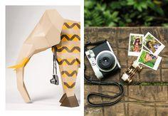 Foto: Estúdio Grima *http://www.rendiestudio.com.br/alakazoo - papercraft animals for fashion editorial tactile design / animais em papel para catálogo de moda