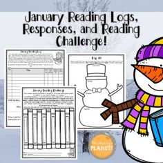 January Reading Logs for in class and homework, Responses, and a differentiated January Reading Challenge! $