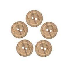 20 Botones de Madera de Caoba Oscuro Diseño De Flores 20mm Coser Manualidades