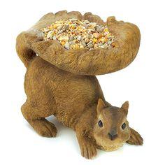 "Zingz & Things ""Squirrey Wildlife Feeder - 6""H x 4""D x 7""W -"