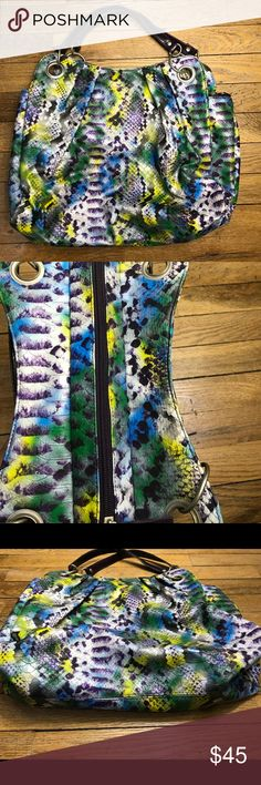 Fun Large Snake Print Shoulder Bag 🐍 Fun Large Snake Print Shoulder Bag 🐍 Multi Color Vegan Leather unbranded Bags Shoulder Bags