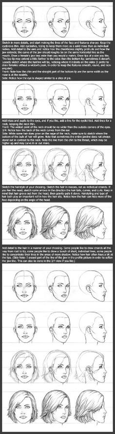 Female drawing tutorial, drawing the female face, drawing lesson