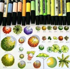 Landscape Architecture with Markers_ Great Architecture presentation. Landscape Architecture Drawing, Landscape Sketch, Landscape Design Plans, Architecture Graphics, Landscape Drawings, Architecture Plan, Landscape Architects, Classical Architecture, Landscape Paintings