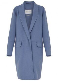 MAX MARA Cornflower blue wool blend coat - Women £995.00