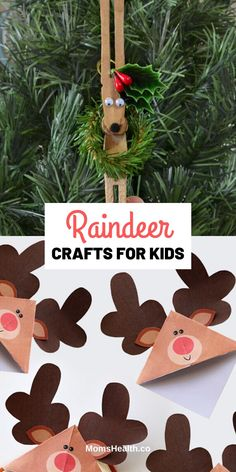 Reindeer Crafts for Kids - 15 Christmas Crafts With Reindeer Templates Crafts For Kids To Make, Christmas Crafts For Kids, Simple Christmas, Christmas Ideas, Inexpensive Christmas Gifts, Homemade Christmas Gifts, Cork Christmas Trees, Christmas Tree Decorations, Reindeer Craft