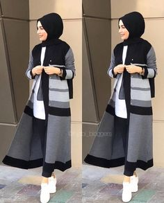 Hijab fashion inspiration - Fashion Clothing 2019 Gray Things gray color on face Islamic Fashion, Muslim Fashion, Modest Fashion, Fashion Outfits, Hijab Fashion Casual, Hijab Dress, Hijab Outfit, Modest Dresses, Modest Outfits