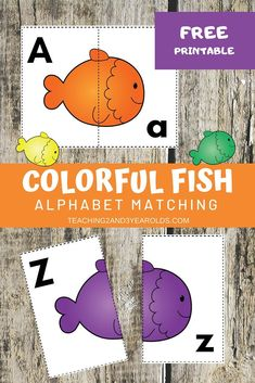 Looking for a fun way to work on alphabet skills with a fish theme? This fish alphabet printable activity includes free cards that challenge preschoolers to match the uppercase letter to the lowercase letter. #free #printable #activity #fish #ocean #alphabet #literacy #abc #matching #game #pets #3yearolds #4yearolds #teaching2and3yearolds Learning Games For Kids, Preschool Learning Activities, Learning Through Play, Abc Cards, Free Cards, Teaching The Alphabet, Alphabet Activities, Upper And Lowercase Letters, Lower Case Letters