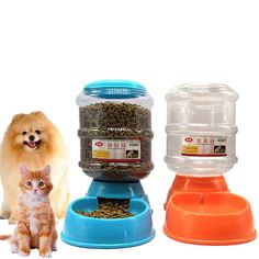 Buy Pet Water Fountain For Cat Dog Automatic Food Bowl Dish Feeder Dispenser 3 in 1 at online store Drinking Fountain, Pet Water Fountain, Automatic Cat Feeder, Dog Feeder, Cat Dog, Dog Store, Buy Pets, Cat Feeding, Food Bowl