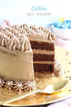 All chocolate tiered cake {for Easter} Cake Recipes From Scratch, Number Cakes, Homemade Cake Recipes, Chiffon Cake, Almond Cakes, Pastry Cake, Tiered Cakes, Cake Smash, No Bake Cake