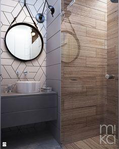 NA ŻOLIBORZU - Mała łazienka na poddaszu w bloku w domu jednorodzinnym bez okna, styl nowoczesny - zdjęcie od M!kaDesign