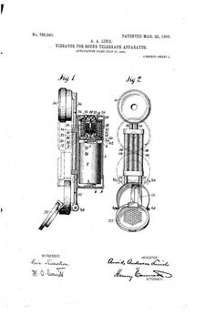 1905 Vibrator for sound telegraph apparatus -- The folding phone wasn't wasn't so new when it came out.