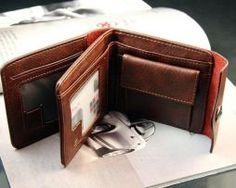 Bifold Wallet Men's Genuine Brown Credit/ID Card Holder Slim Purse Gift Buy Wallet, Rfid Wallet, Gift Bags, Luggage Bags, Leather Men, Card Holder, Purses, Brown, Gifts