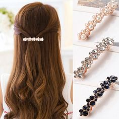 Fashion Hair Claws Imitation Pearl Lady Headwear Accessories For Women Hairpins Plastic Elastic Barrette Hot As Effectively As A Fairy Does Girl's Hair Accessories Apparel Accessories