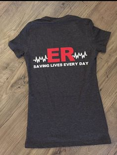 ER Tank. Saving lives Every Day. Nurses Shirt. by CreatewithJessy