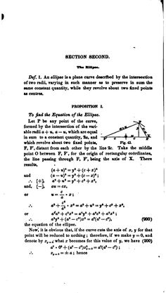 Elements of geometry, theoretical and practical... Elements of geometry, theoretical and practical; containing a full explanation of the construction and use of tables, and a new system of surveying by Whitlock, George Clinton, 1808-1864, Published 1848   analytická geometria elipsy