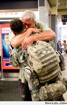 Welcome home, soldier. This brings tears to my eyes.
