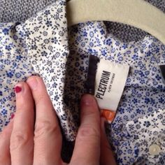 NWOT❗️Reduced❗️ Ben Sherman Floral Button-Down Never worn men's Plectrum line by Ben Sherman, tiny blue floral pattern against a cream colored button up. Thin and airy fabric, yet very well constructed. Fits more like a women's medium, darting in back for a more fitted look. 100% cotton. Ben Sherman Tops Button Down Shirts