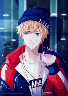 Anime Drawings Art by 阿呱 - Hot Anime Boy, Boys Anime, Cool Anime Guys, Handsome Anime Guys, Anime Love, Manga Boy, Wie Zeichnet Man Manga, Anime Cosplay, Kawaii Anime