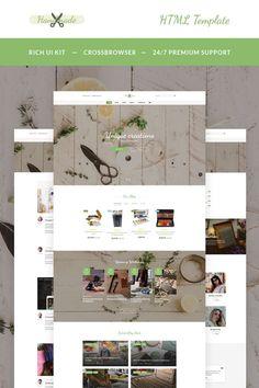 Handmade - Art Supplies Website Template New Screenshots BIG Free Website Templates, Html Templates, Ui Kit, Webpage Layout, Web Design Software, Create Website, Handmade Art, Art Supplies, Creations